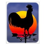 Sunrise Rooster Small Poster