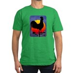 Sunrise Rooster Men's Fitted T-Shirt (dark)