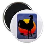Sunrise Rooster Magnet