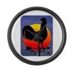 Sunrise Rooster Large Wall Clock