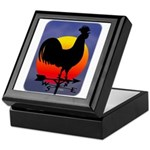 Sunrise Rooster Keepsake Box