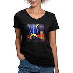 Chicago Worlds Fair Women's V-Neck Dark T-Shirt