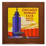 Chicago Worlds Fair Framed Tile