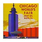 Chicago Worlds Fair Tile Coaster