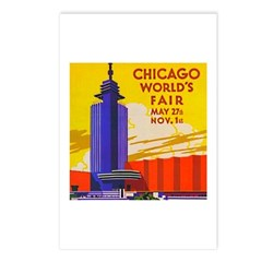 Chicago Worlds Fair Postcards (Package of 8)