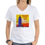 Chicago Worlds Fair Women's V-Neck T-Shirt
