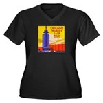 Chicago Worlds Fair Women's Plus Size V-Neck Dark