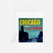 Chicago / TWA Greeting Cards (Pk of 10)