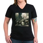 New York Central Women's V-Neck Dark T-Shirt