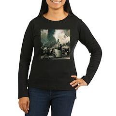 New York Central Women's Long Sleeve Dark T-Shirt