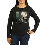 New York Central Women's Long Sleeve Dark T-Shirt