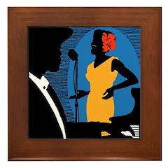 New York Jazz Framed Tile