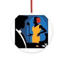 New York Jazz Ornament (Round)