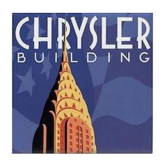 Chrysler Building Tile Coaster