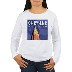Chrysler Building Women's Long Sleeve T-Shirt