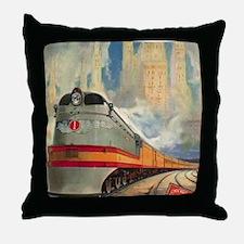 1937 Hiawatha Throw Pillow