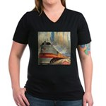 1937 Hiawatha Women's V-Neck Dark T-Shirt