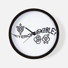 HETEROFLEXIBLE SWINGERS SYMBO Wall Clock