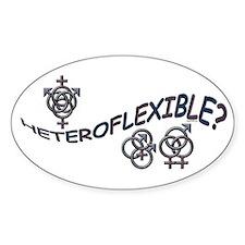 HETEROFLEXIBLE SWINGERS SYMBO Oval Decal