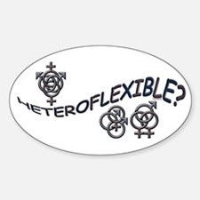 HETEROFLEXIBLE SWINGERS SYMBO Oval Decal