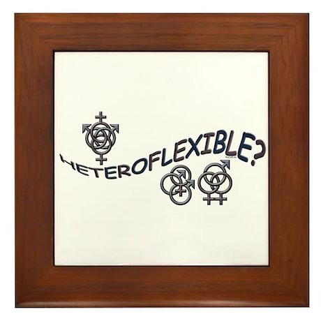 HETEROFLEXIBLE SWINGERS SYMBO Framed Tile