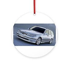 Saab 9.5 Ornament (Round)