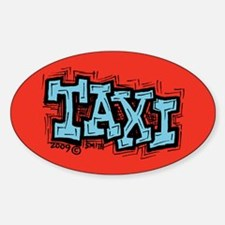 Taxi Sticker (Oval)