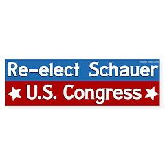 Re-elect Mark Schauer to Congress bumper sticker