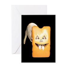 Ferret Halloween Greeting Card