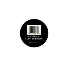 I can be bought UPC Mini Button (100 pack)