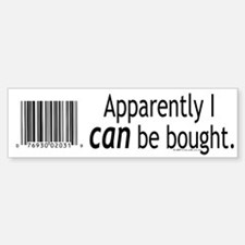 I can be bought UPC Bumper Car Car Sticker