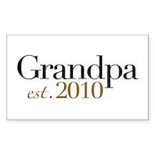 New Grandpa 2010 Rectangle Decal
