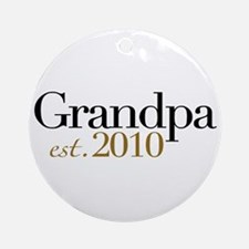 New Grandpa 2010 Ornament (Round)