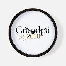 New Grandpa 2010 Wall Clock