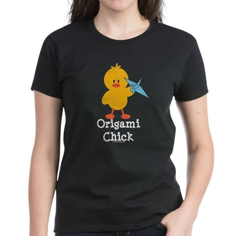 Origami Chick Women's Dark T-Shirt