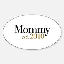 New Mommy 2010 Oval Decal