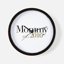 New Mommy 2010 Wall Clock