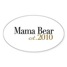 Mama Bear 2010 Oval Decal