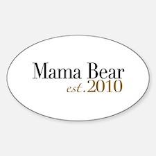 Mama Bear 2010 Oval Decal