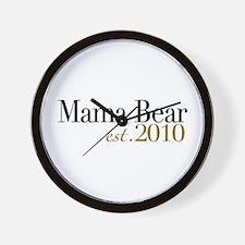 Mama Bear 2010 Wall Clock
