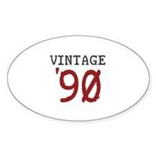 Vintage 1990 Oval Decal