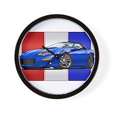 98-02 Blue Camaro Wall Clock