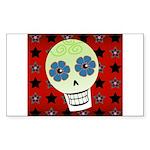 Skull Rectangle Sticker