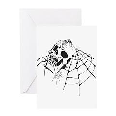 Skull & Spider Greeting Card