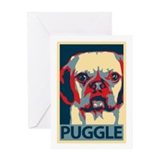 Vote Puggle! - Greeting Card