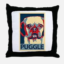 Vote Puggle! - Throw Pillow