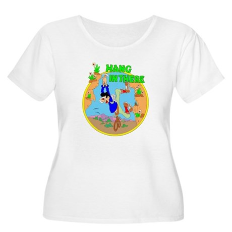 HANG IN THERE Women's Plus Size Scoop Neck T-Shirt