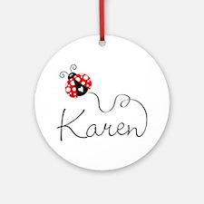 Ladybug Karen Ornament (Round)