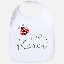 Ladybug Karen Bib