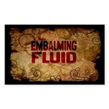 Embalming Fuid Wine Label Decal